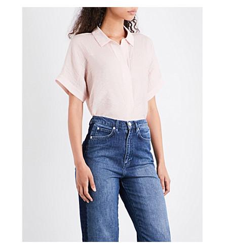 WHISTLES Ellen crepe shirt (Pink