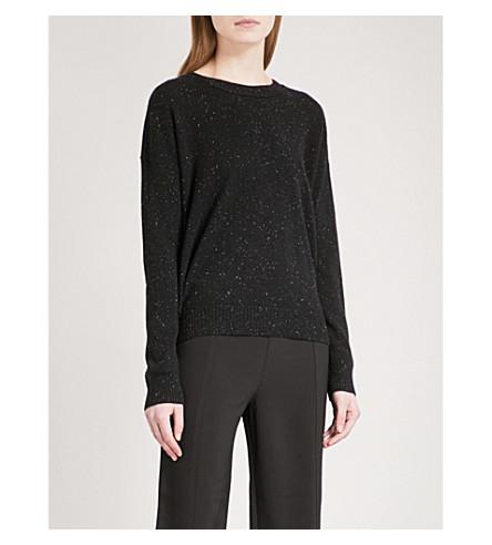 WHISTLES Speckled cashmere jumper (Black