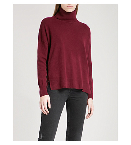 WHISTLES Turtleneck cashmere jumper (Red