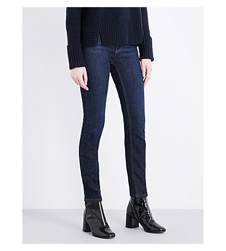 WHISTLES Skinny mid-rise jeans (Navy