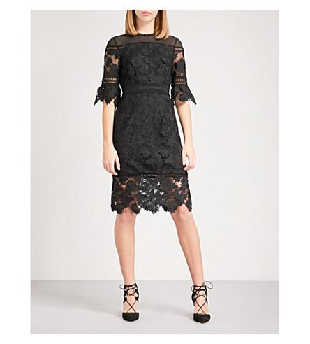 WHISTLES Amanda lace dress (Black