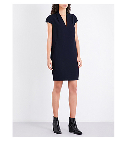 WHISTLES Paige crepe dress (Navy