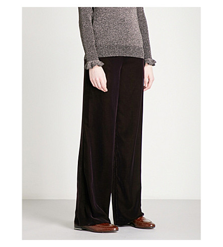 WHISTLES Corinna velvet trousers