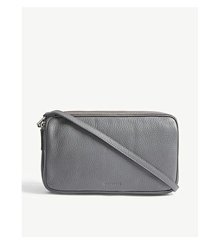 WHISTLES Cornelia triple zip cross-body bag (Grey