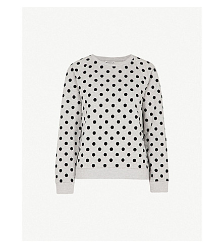 WHISTLES Polka dot cotton jumper (Grey