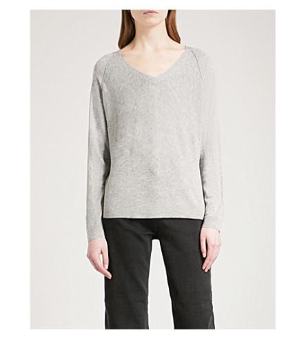 WHISTLES V-neck wool-blend jumper (Grey