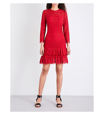 WHISTLES Marylou Lace mini dress (Red