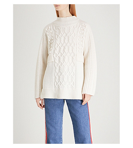 WHISTLES Oversized wool-blend jumper (Cream