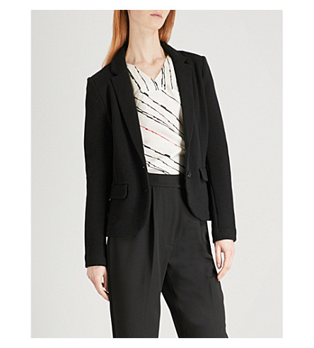 WHISTLES Cotton-jersey blazer (Black
