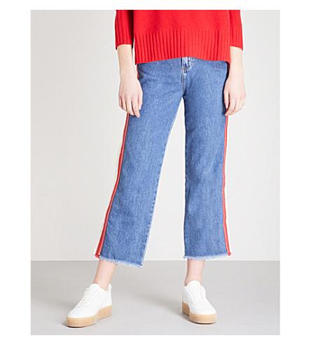 WHISTLES Jeans corte con rectos rayas azules alto de r8qOrwRxd