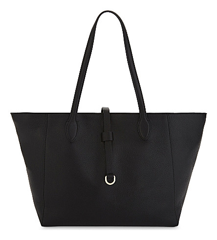 WHISTLES Shaftesbury leather tote (Black