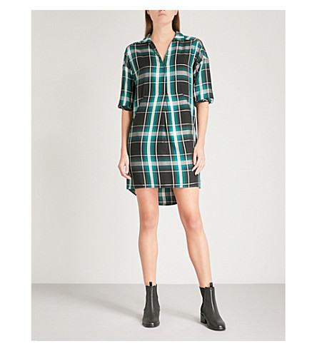 WHISTLES Lola checked shirt dress (Multi-coloured