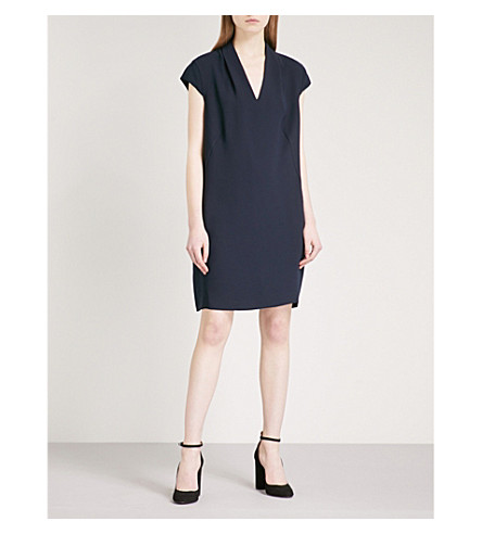WHISTLES Paige woven dress (Navy
