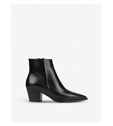 WHISTLES Moxon stud detail ankle boot (Black