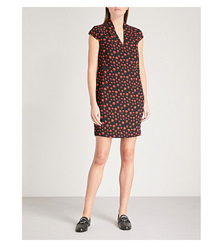 WHISTLES Paige spotted crepe dress (Multi-coloured