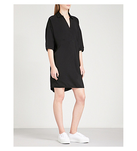 WHISTLES Lola loose-fit woven dress (Black