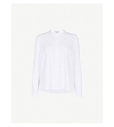 WHISTLES Slub cotton top (White