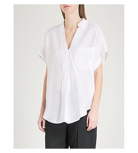 WHISTLES Lea woven shirt (White