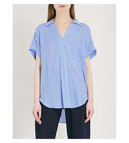 WHISTLES Lea striped woven shirt (Multi-coloured