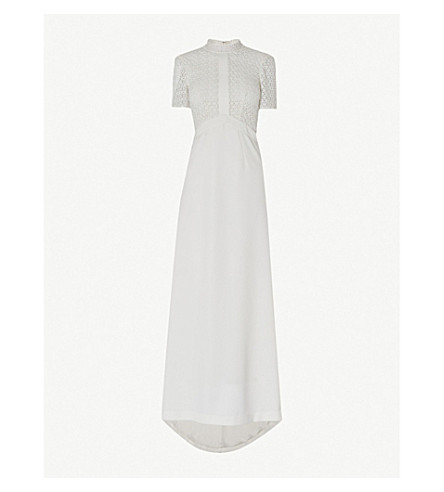 WHISTLES Scarlett lace and crepe wedding dress (Cream