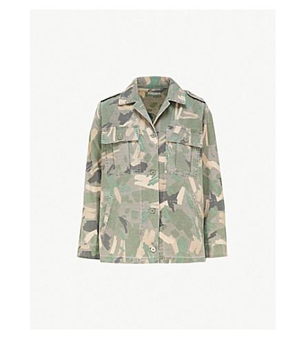 WHISTLES Camo-print denim jacket (Multi-coloured
