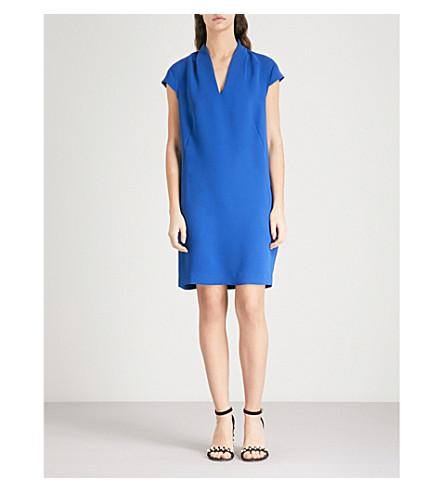 WHISTLES Paige V-neck crepe dress (Blue