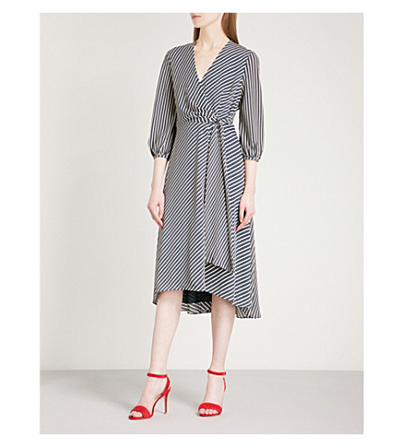WHISTLES Callie striped crepe dress (Multi-coloured