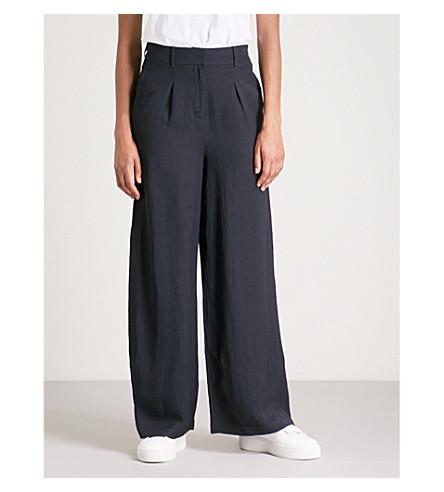 WHISTLES Wide leg pocket trouser (Navy
