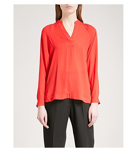 WHISTLES Catalina crepe top (Red