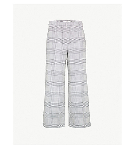 WHISTLES 方格阔腿梭织裤子 (灰色