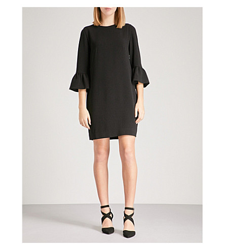 WHISTLES Raven crepe dress (Black