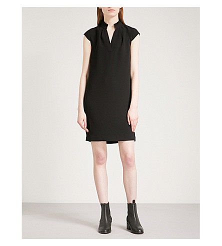 WHISTLES Daris crepe mini dress (Black