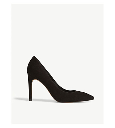 WHISTLES Cornel suede court shoes (Black