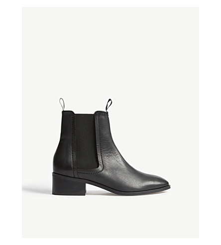 WHISTLES Fernbrook Chelsea leather boots (Black