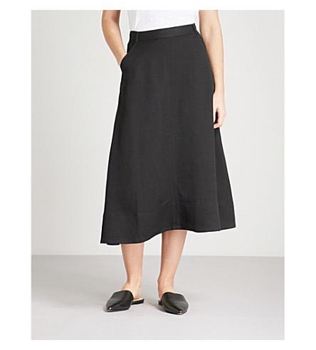 WHISTLES Austin woven skirt (Black