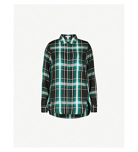 WHISTLES Emilia checked cotton shirt (Multi-coloured