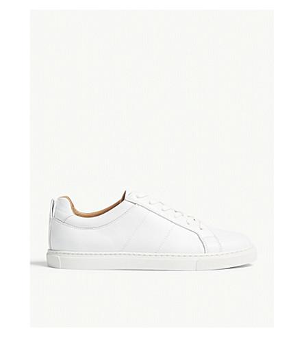 WHISTLES Koki leather low-top trainers (White