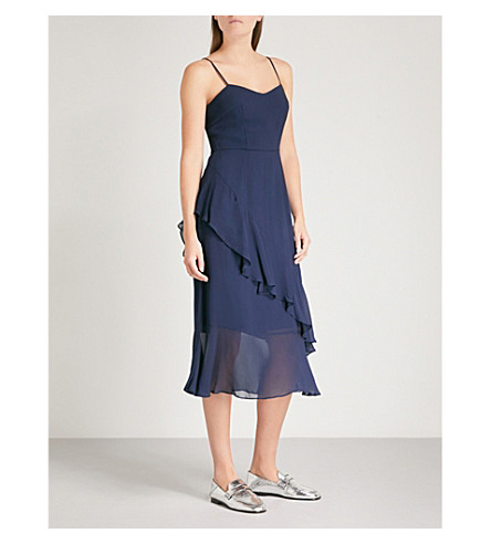 WHISTLES Amber frill dress (Navy