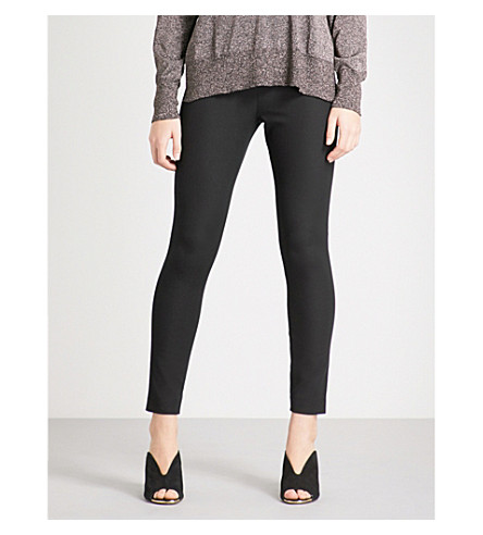 WHISTLES Super Stretch high-rise skinny cotton-blend trousers (Black