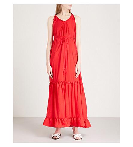 WHISTLES 流苏领带梭织的最大礼服 (红色