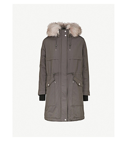 WHISTLES Cassie padded shell parka coat (Grey
