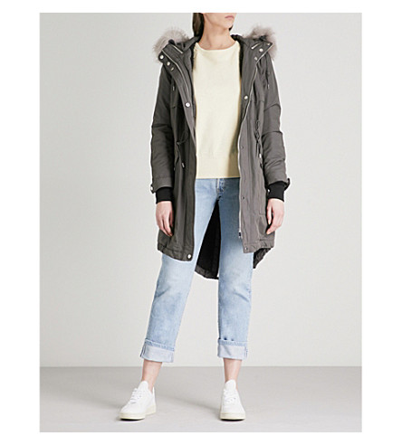 WHISTLES Cassie padded shell parka coat (Grey