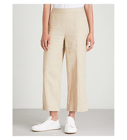 ancha Crema Pantalón de de WHISTLES lino pierna Tx6qS1XH