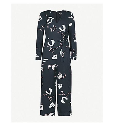 WHISTLES Abella linen-blend jumpsuit (Black