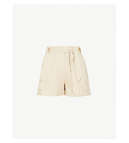 WHISTLES 自系式高腰亚麻短裤 (奶油