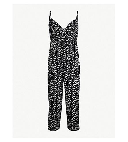 WHISTLES Lienne Gobi-print jumpsuit (Monochrome
