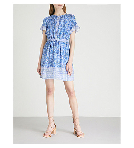 WHISTLES Riya-print dress (Multi-coloured