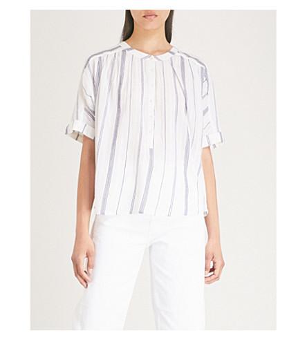 WHISTLES Paula striped cotton blouses (Multi-coloured