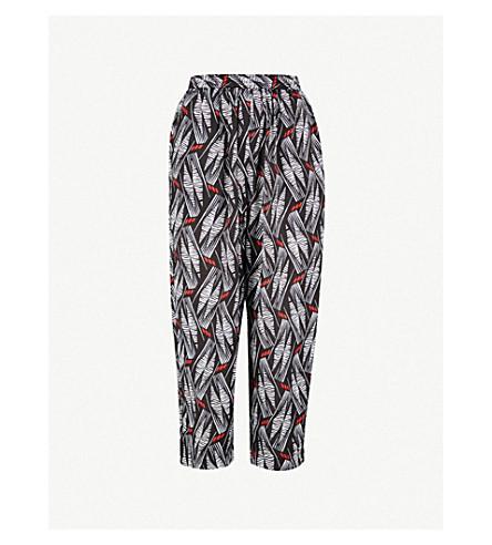 WHISTLES 嘉莉印制休闲版型高腰梭织裤子 (多色