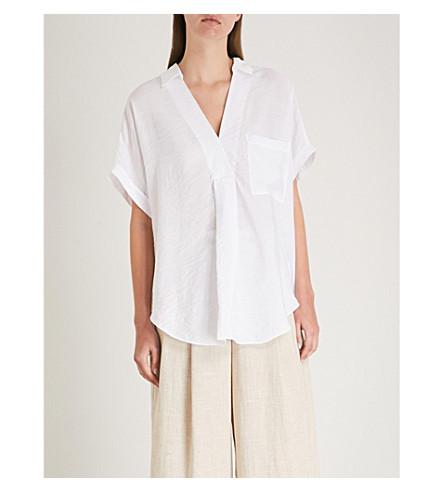 WHISTLES woven Lea Lea White WHISTLES shirt HYRxrHw